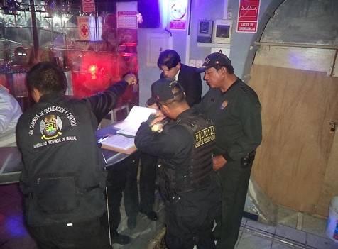 En Huaral clausuran video pub Aqua Club en operativo conjunto