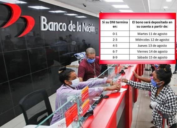 Bono Universal S/ 760: este es el cronograma de pago en el Banco de la  Nación | ::Huaralenlinea:: Portal de Noticias de la provincia de Huaral ,  Lima - Perú - Chancay