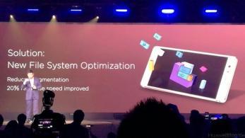 Huawei P9 Präsentation London - Neues File System