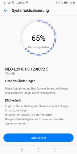 Huawei Mate RS Firmware Update 8.1.0.120
