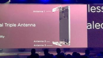 Huawei P9 Präsentation London - dreifach Antenne