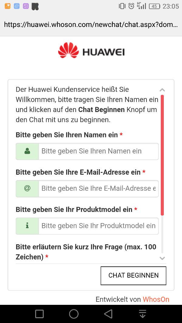 HiCare App Onlinedienste