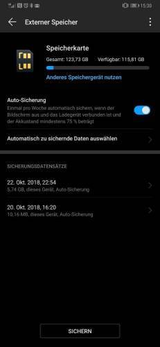Huawei Backup Datensicherung EMUI 9