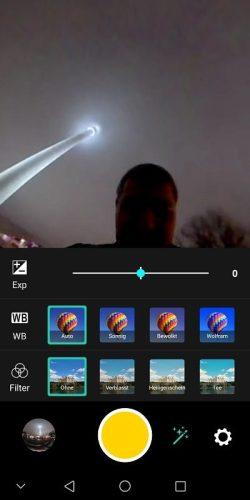 Huawei EnVizion Test Aufnahme Modus