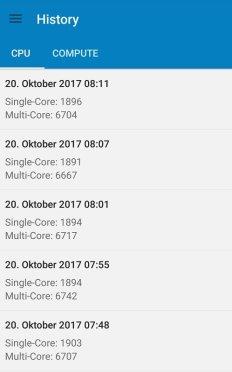 Huawei Mate 10 Pro Benchmark Geekbench CPU