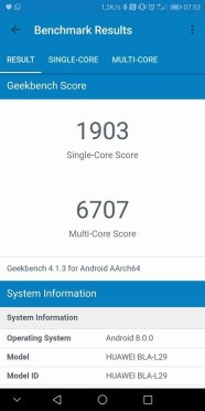 Huawei Mate 10 Pro Benchmark Geekbench Score