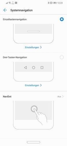 Huawei Mate 20 Lite Navigation