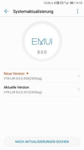 Huawei P10 Oreo Beta Firmwareupdate
