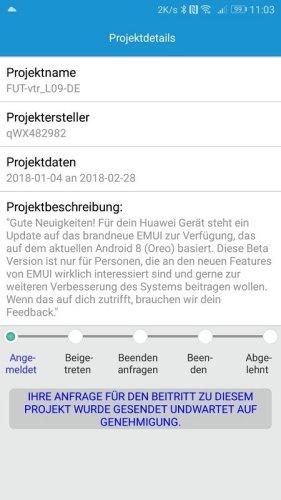 Huawei P10 Oreo Beta Projekt