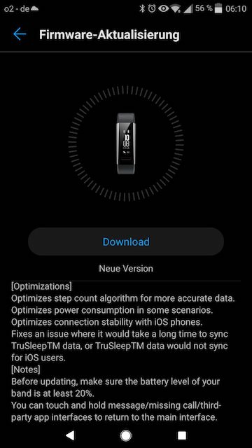 Huawei Band 2 Pro Firmware Update - 1.1.67