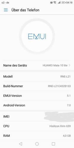 Huawei Mate 10 lite Firmware Update B133