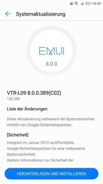 Huawei P10 und MediaPad M5 erhalten Sicherheitsupdates. 1