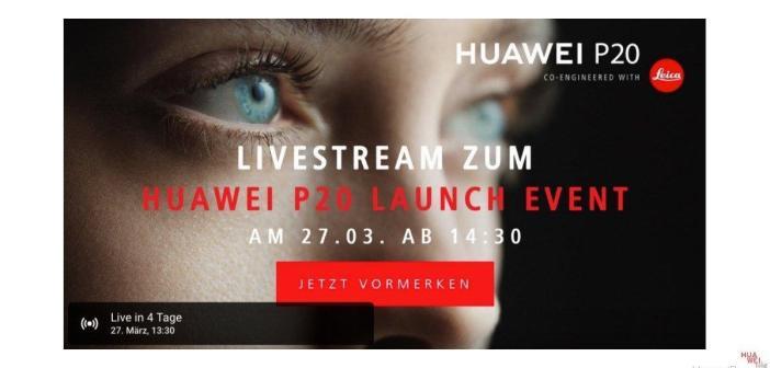 HUAWEI P20 (pro) Livestream / Blog