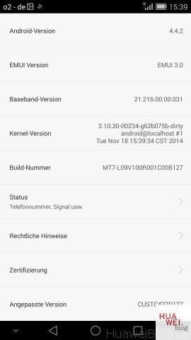 Huawei Ascend Mate 7 B127 Firmware Leak - erster Erfahrungsbericht