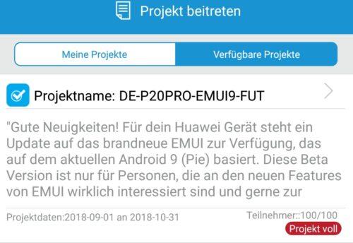 P20 Pro EMUI 9 FUT