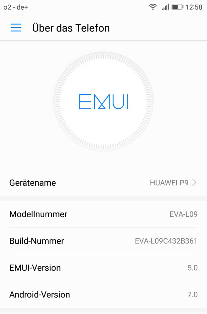 Huawei P9 - Update - EVA-L09C432B361 - Download - Anleitung