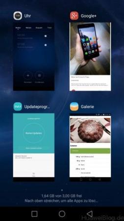 Huawei P8 Multitasking
