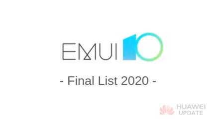 EMUI 10 2020 Final List
