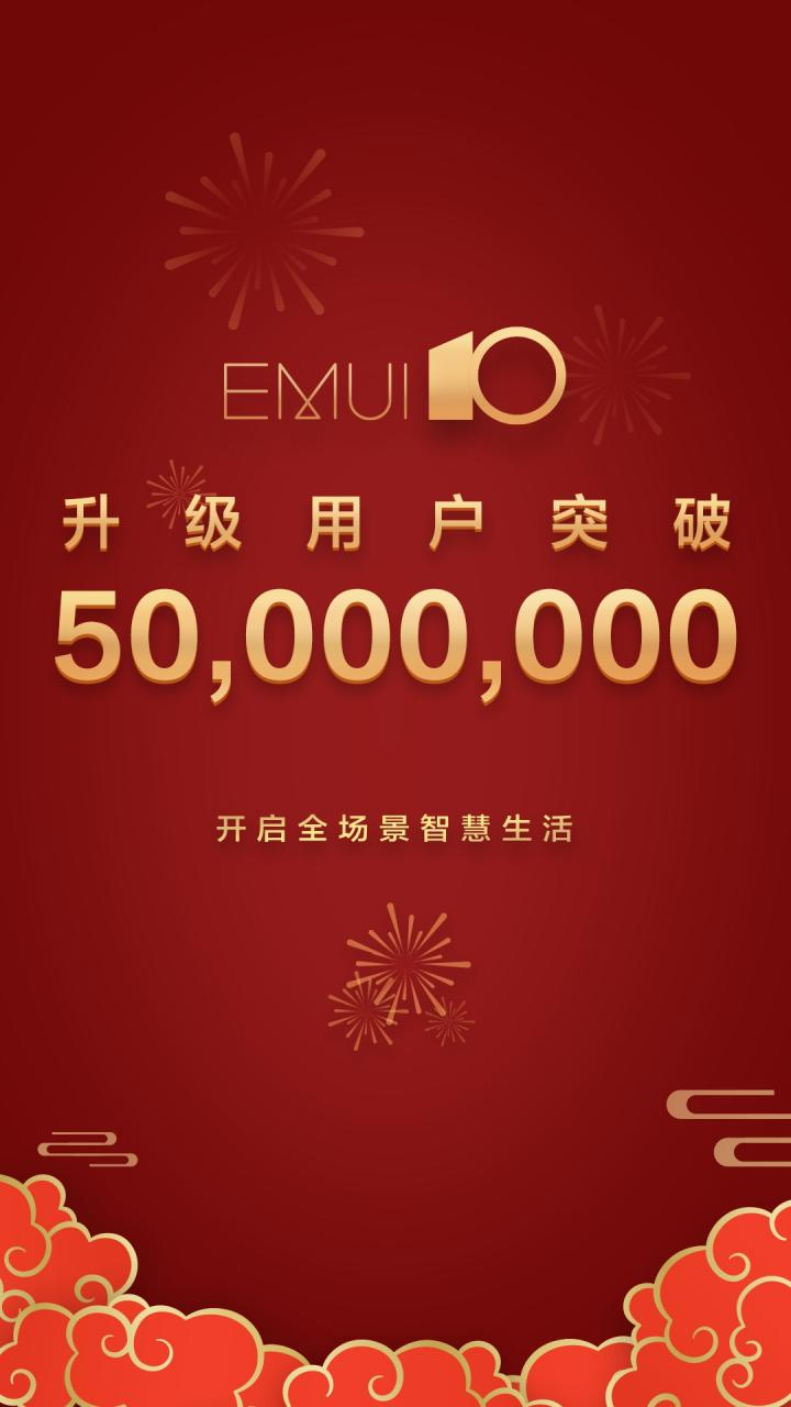 EMUI 10 50 million users