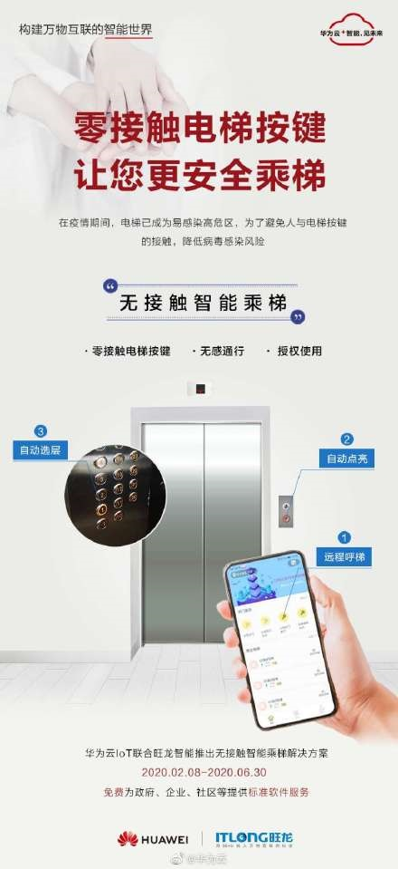Contactless Intelligent Elevator Solution huawei