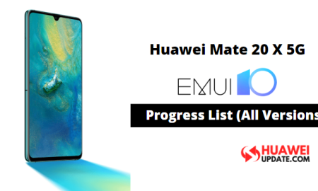 Huawei Mate 20 X 5G EMUI 10 updates