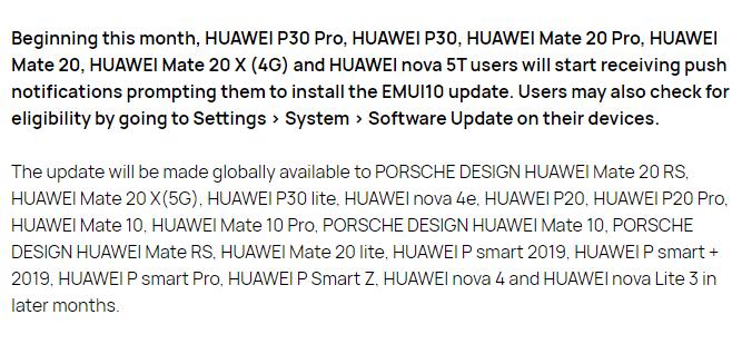 Huawei Nova Lite 3 emui 10
