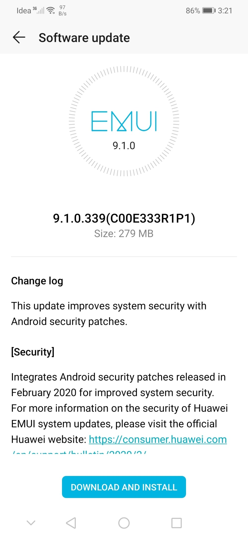 Honor Play February 2020 security update