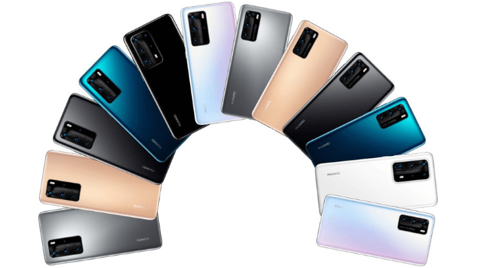 Huawei P40 series official colors leaked