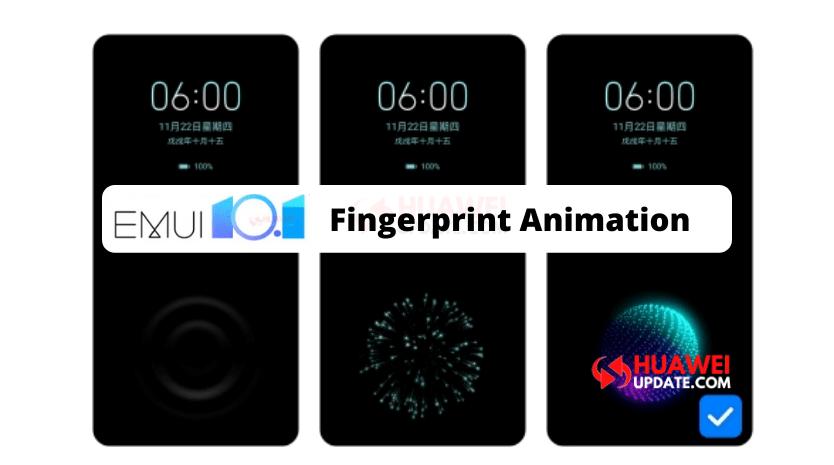 EMUI 10.1 Fingerprint Animation