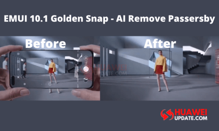 EMUI 10.1 Golden Snap - AI Remove Passersby - Huawei Update