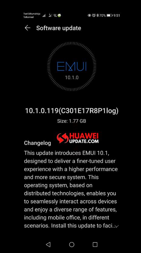 Huawei P30 Pro EMUI 10.1 Indonesia