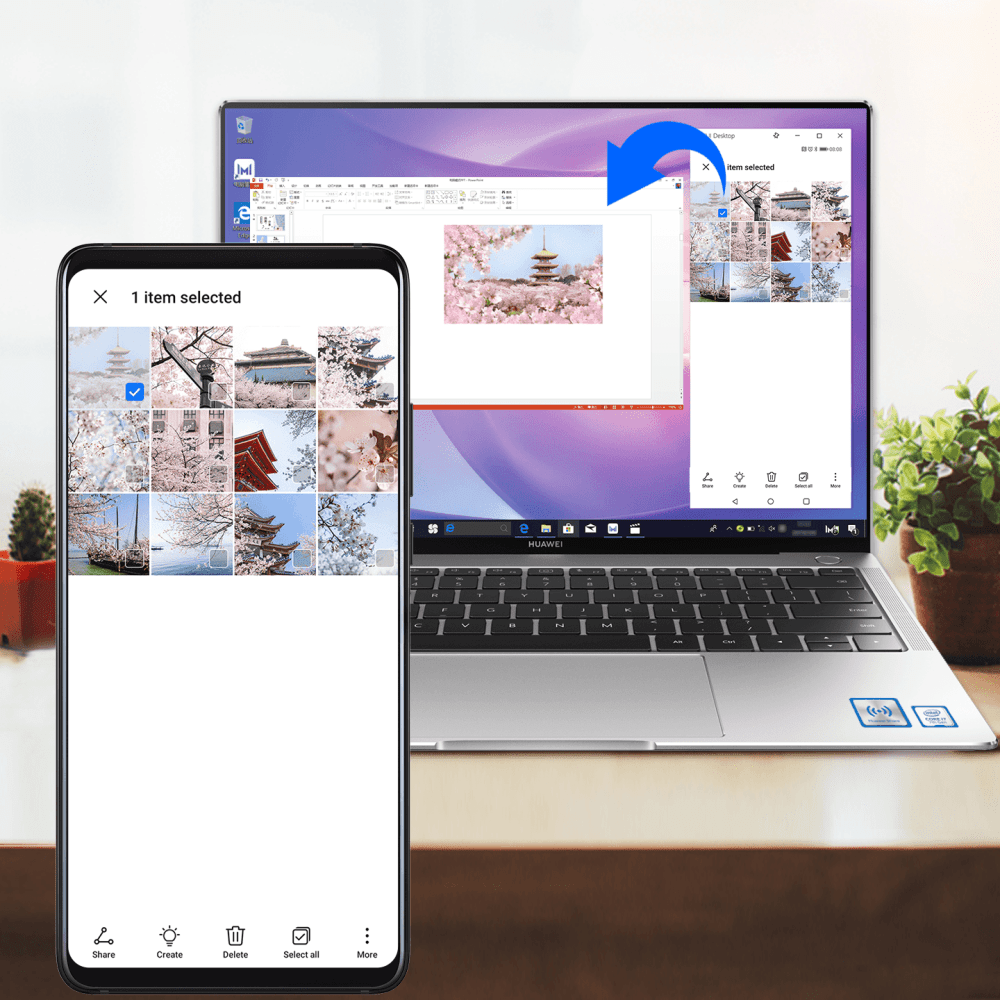 EMUI 10.1 Drag Phone Files onto Your Notebook