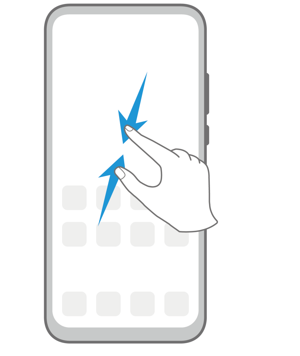 EMUI Access Home screen editing mode Gesture