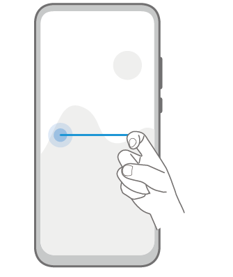 EMUI Knuckle Gesture Split Screen