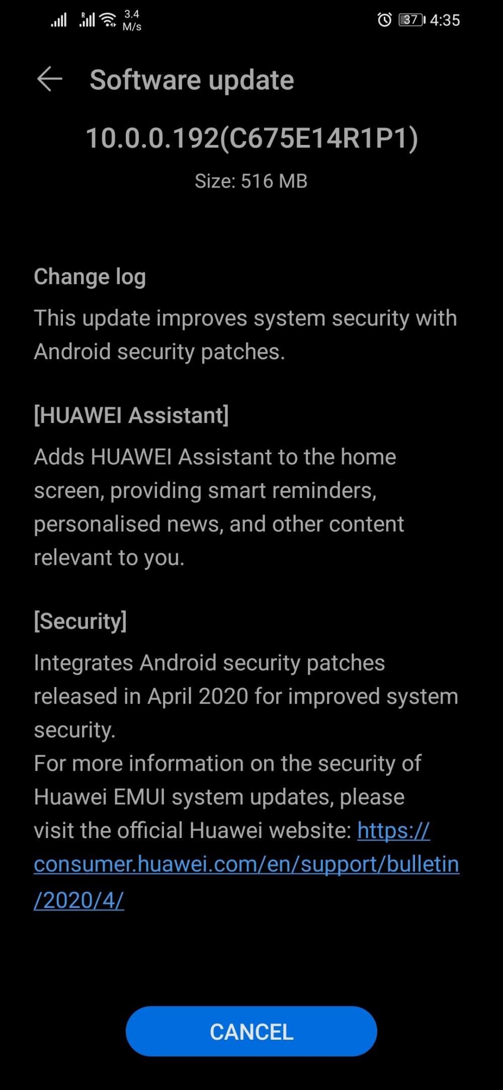 Honor 8X EMUI 10.0.0.192