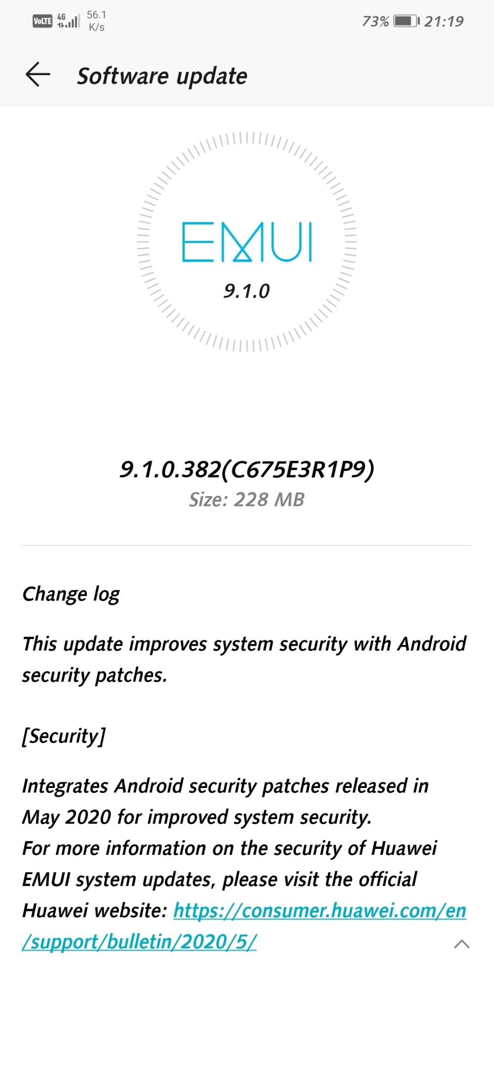 Honor Play May 2020 security patch update