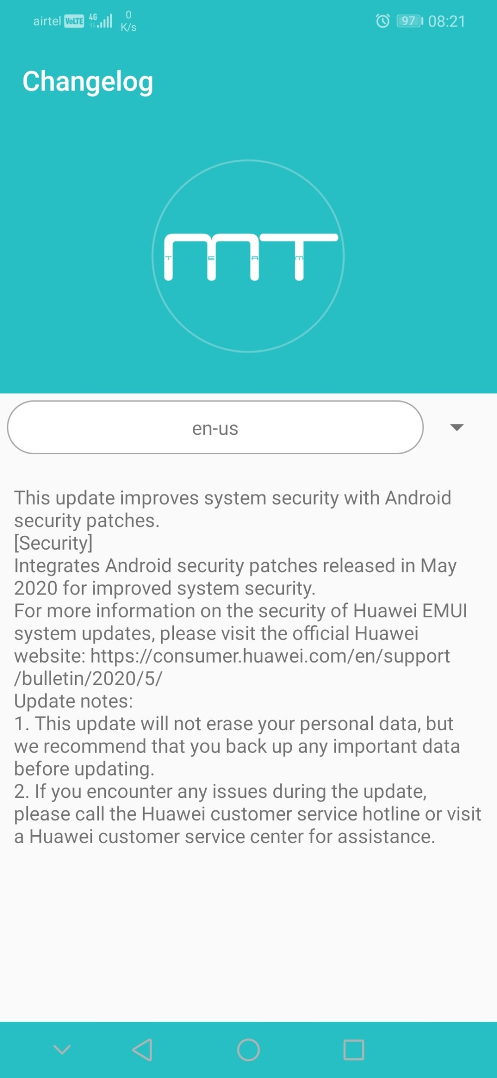 Honor Play May 2020 security patch