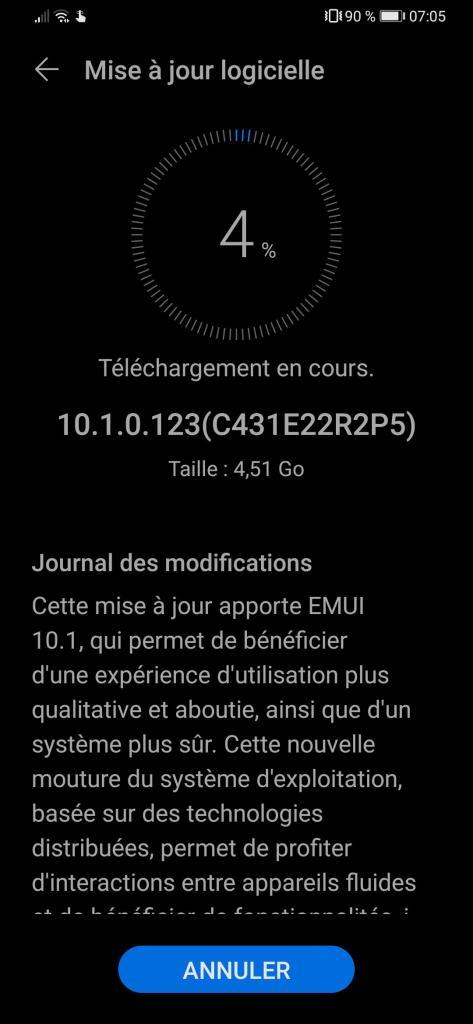 Huawei P30 Series EMUI 10.1 Update In France
