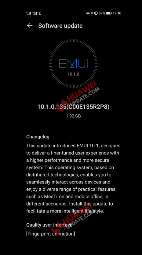 Huawei P30 and P30 Pro EMUI 10.1.0.135
