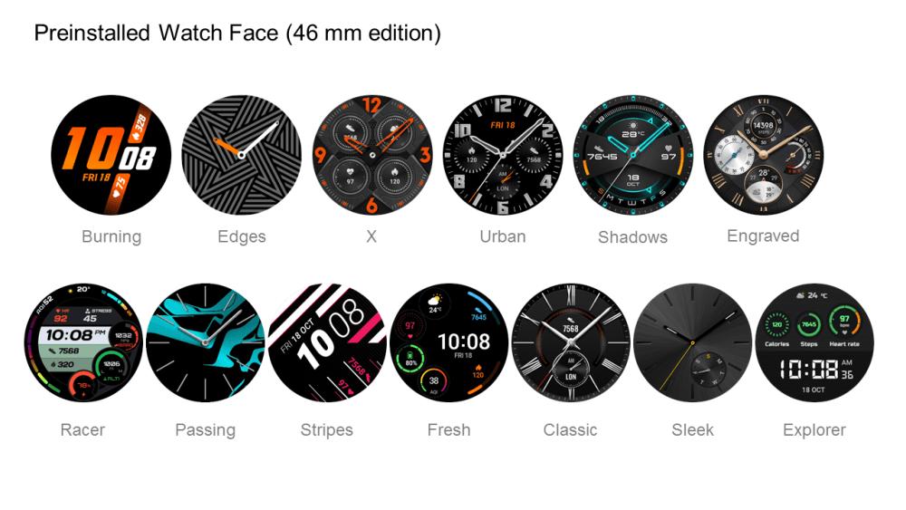 Huawei Watch GT 2 Pre-installed watch face