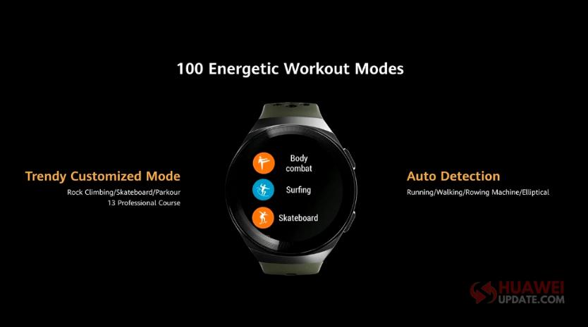 Huawei Watch GT 2e 100 Workout Modes