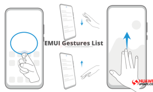 List of available Gestures in EMUI 10 and EMUI 10.1
