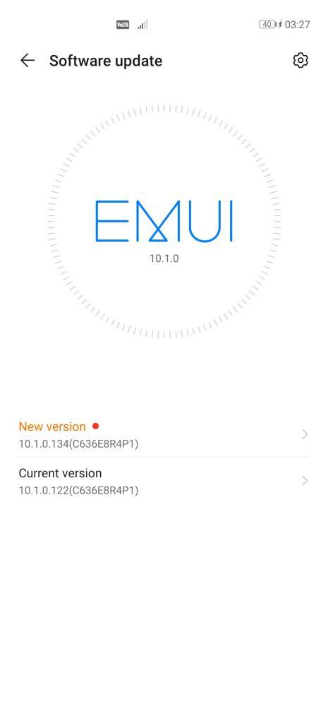 EMUI 10.1.0.134 P40 Pro