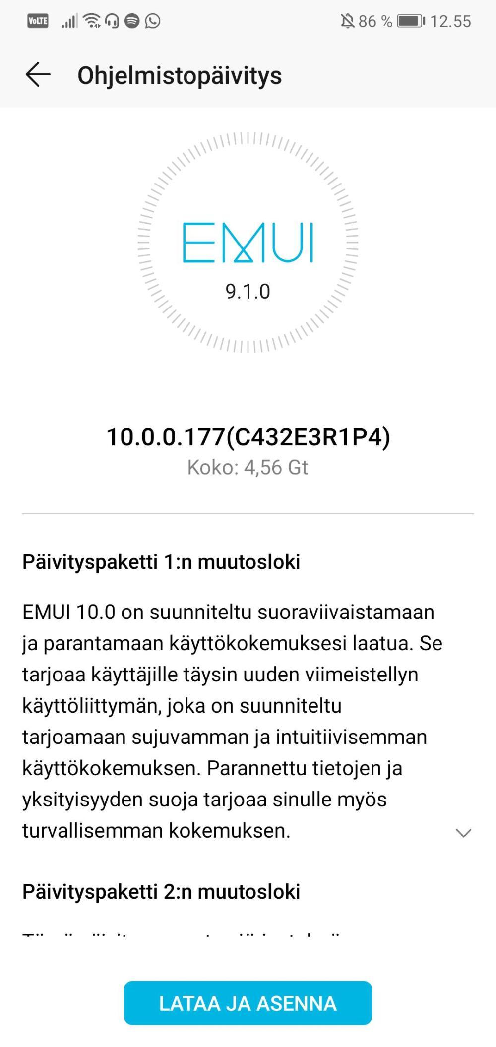 Honor 10 EMUI 10 Finland
