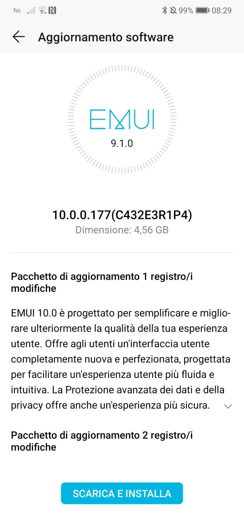 Honor 10 EMUI 10 Italy