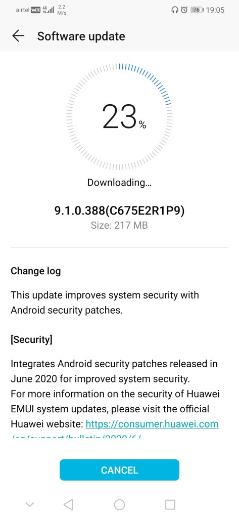 Honor Play June 2020 security update
