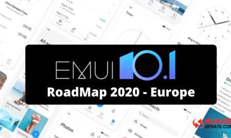Huawei EMUI 10.1 2020 roadmap for Europe