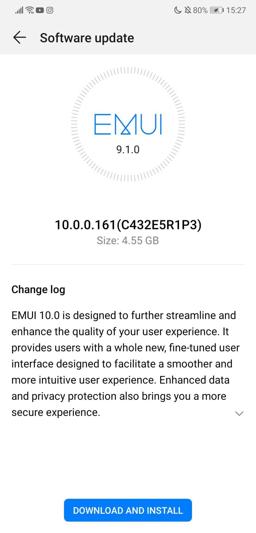 Huawei P20 EMUI 10 Europe