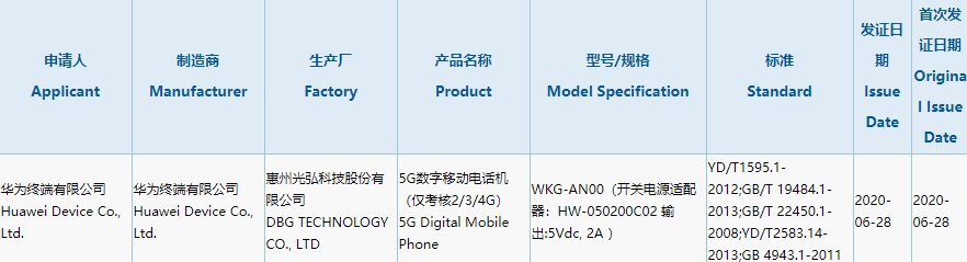 Huawei WKG-AN00