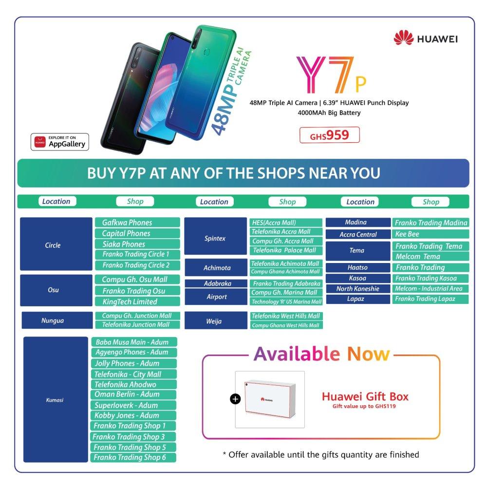 Huawei Y7p Ghana Store